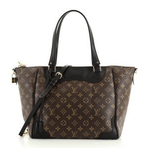 Louis Vuitton Estrela Leather Tote in Black, Brown