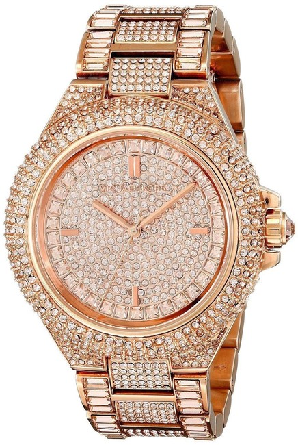 Item - Rose Gold Camille Pave Crystal Womens Mk5862 Watch