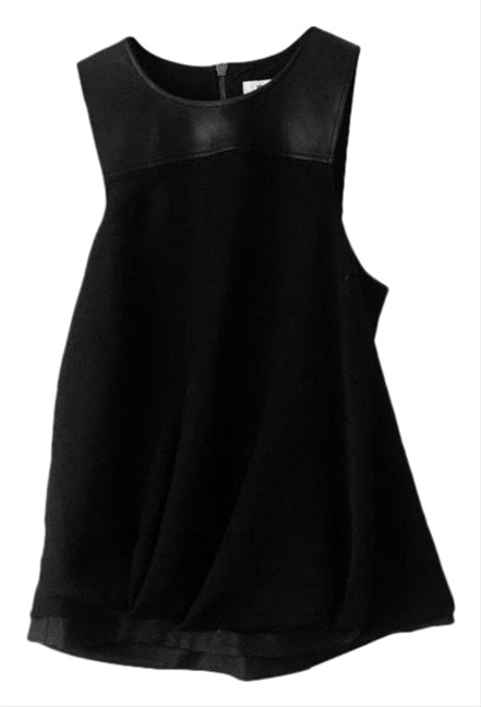 Item - Leather Balloon Black Top