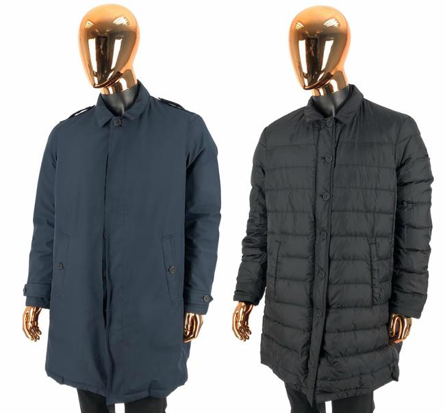 Item - Black Mens Blue / Polyester Reversible Puffer / Down Jacket / Trench C Coat Size 18 (XL, Plus 0x)