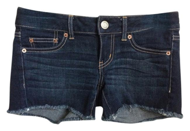 American Eagle Outfitters Cut Off Shorts Dark Rinse