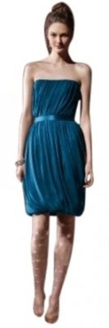 Dessy Blue 8108 Mid-length Cocktail Dress Size 8 (M) Dessy Blue 8108 Mid-length Cocktail Dress Size 8 (M) Image 1