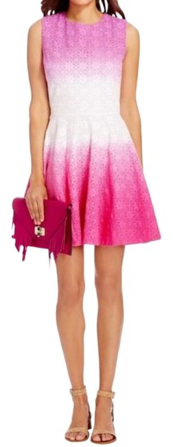 Item - Pink White Purple Ombre Jeannie Eyelet Short Night Out Dress Size 12 (L)