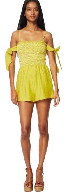 Item - Yellow Mojito Smocked Lime Romper/Jumpsuit