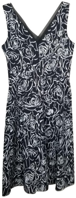 Item - Black/White Party Mid-length Work/Office Dress Size 6 (S)