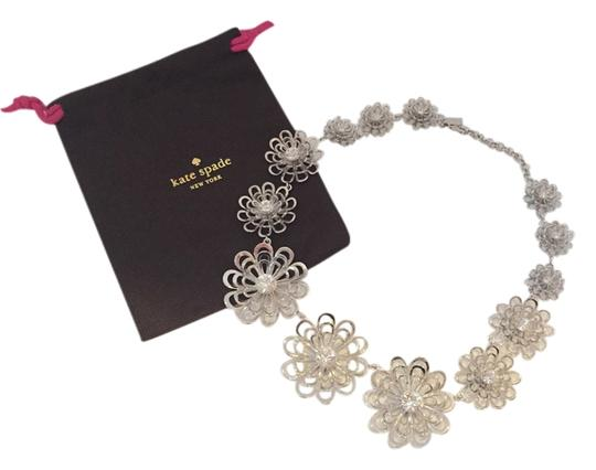 Kate Spade Kate Spade Oops A Daisy Necklace Rodium Plated Silver Flowers