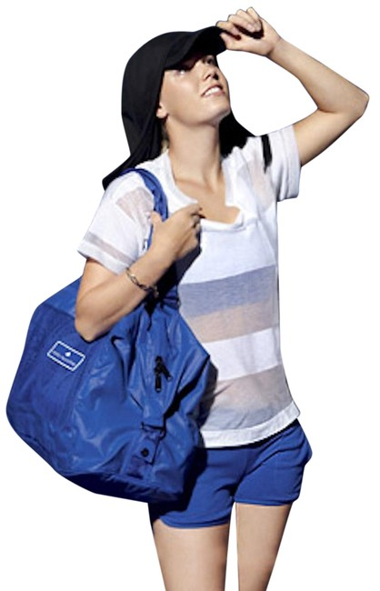 Item - Yoga Weekend/Travel Blue Polyester Tote