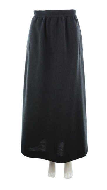 Item - Charcoal No Label Vintage Grey Wool Skirt Size 4 (S, 27)