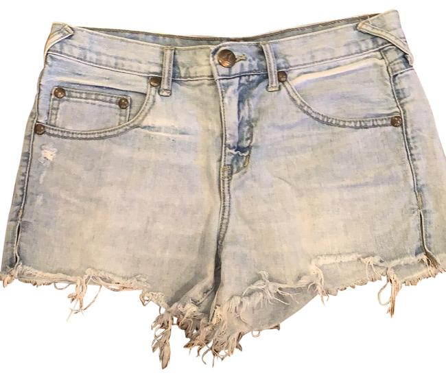 Item - Blue Distressed Denim Shorts Size 4 (S, 27)