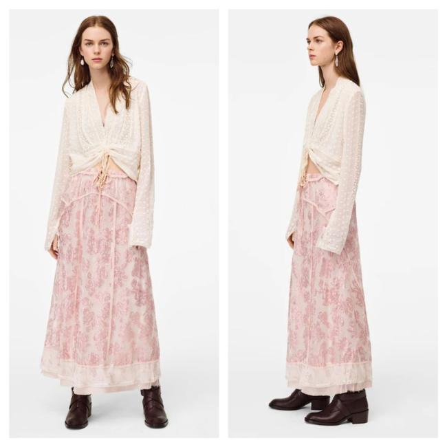 Item - Pink Limited Edition Metallic Thread Long Skirt Size 6 (S, 28)