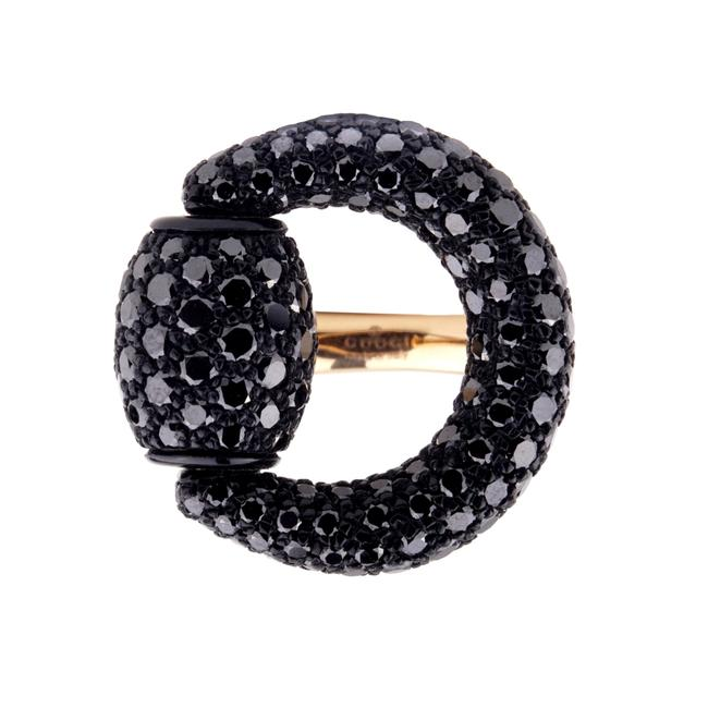 Item - Rose Gold Horsebit Black Diamond 661 Ring
