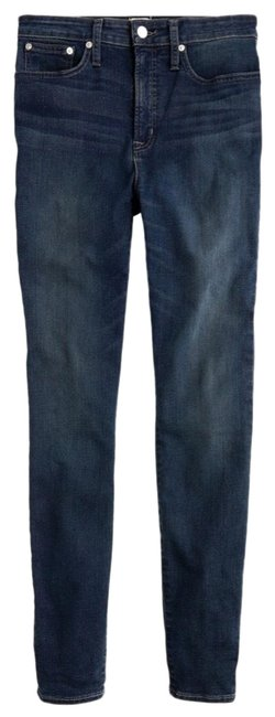 Item - Grey Dark Rinse Toothpick Lake Wash Premium Denim Pants 26 Pockets Skinny Jeans Size 2 (XS, 26)