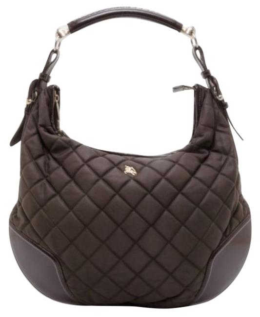 Item - Hoxton Quilted Brown Fabric Hobo Bag