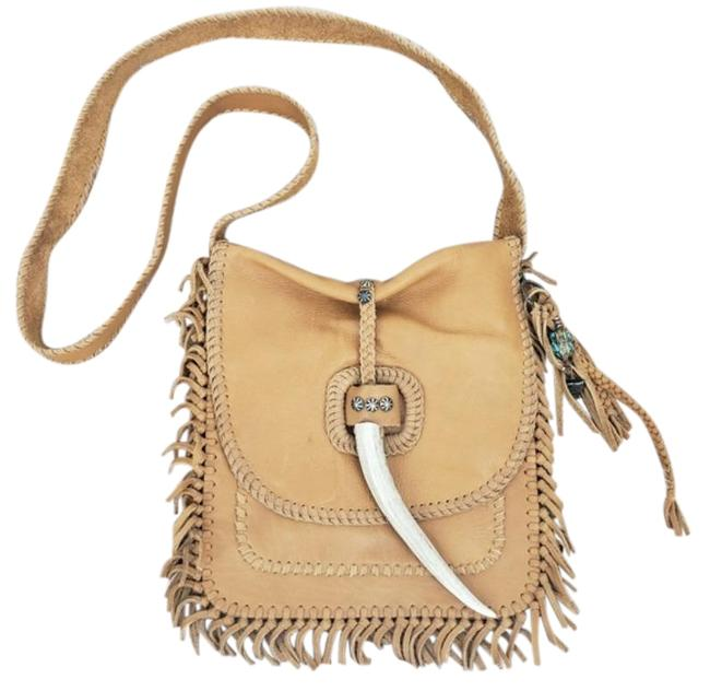 Item - Wolf Moon Tan Leather Cross Body Bag