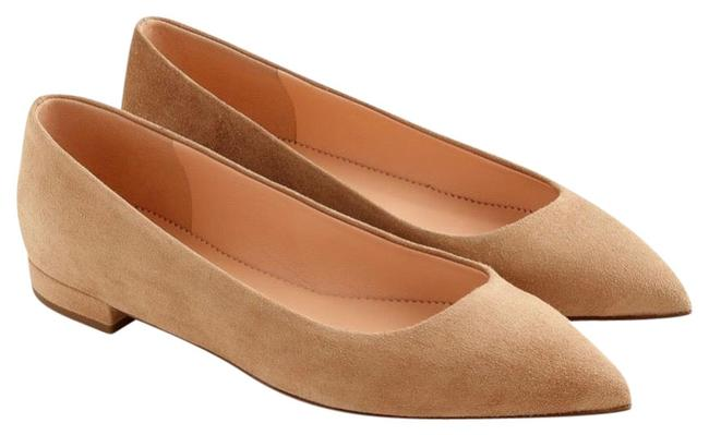 Item - Tan Pointed Suede Classy Work Office Neutral Everyday Flats Size US 8.5 Regular (M, B)