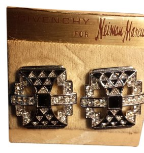 Givenchy Givenchy black and silver pierced earrings