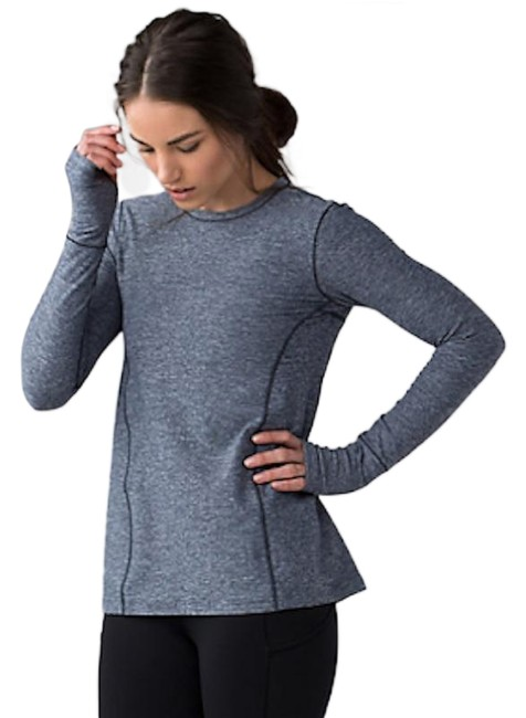 Item - Gray Down The Line Performance Activewear Top Size 4 (S)