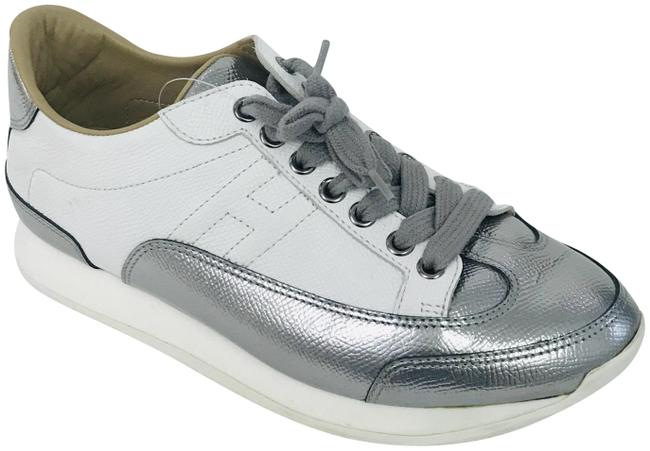Item - White Silver Quicker Trainers Sneakers Size EU 36 (Approx. US 6) Regular (M, B)