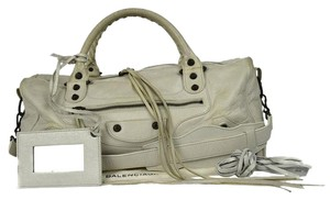 Balenciaga Two Way 2way First Editors City Satchel in Ivory