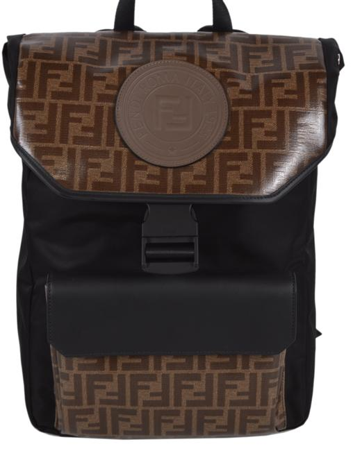 Item - New Ff Brown/Black Nylon/Leather Backpack