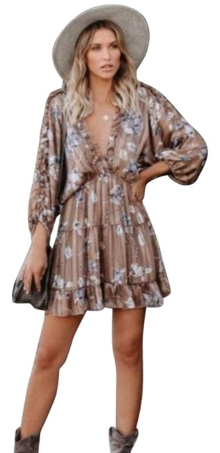Vici Miss You Ruffle Tiered Babydoll Short Casual Dress Size 6 (S) Vici Miss You Ruffle Tiered Babydoll Short Casual Dress Size 6 (S) Image 1