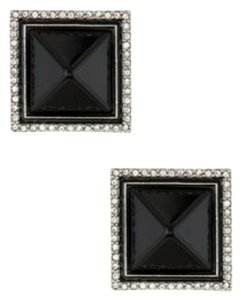 Rachel Zoe Rachel Zoe Pyramid Button Clip On Earrings