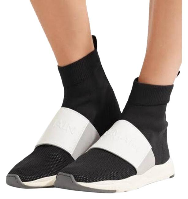 Item - Black and White Cameron Knit High Top Running Sneakers Size US 8 Regular (M, B)