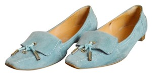 Tod's Light Blue Slip On Loafers Flats