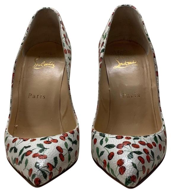Item - White Pigalle Follies Cherry Crackle A209 Pumps Size EU 36 (Approx. US 6) Regular (M, B)