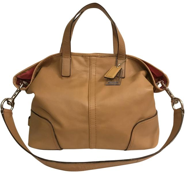 Item - Shoulder Hadley Med Duffel #f27728 British Beige Brown Tan Silver Leather Satchel