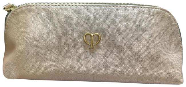 Item - New Makeup In Shiny Cream Color with Gold Hardware. Makeup Bag/ Yes There Are 2 Listings I Cosmetic Bag