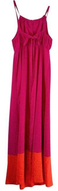 Item - Pink & Orange Straps Sleeveless Long Casual Maxi Dress Size 8 (M)