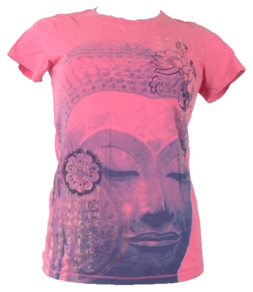 Lucky Brand Pink Lotus Flower Graphic Xs Tee Shirt Size 2 Xs Tradesy