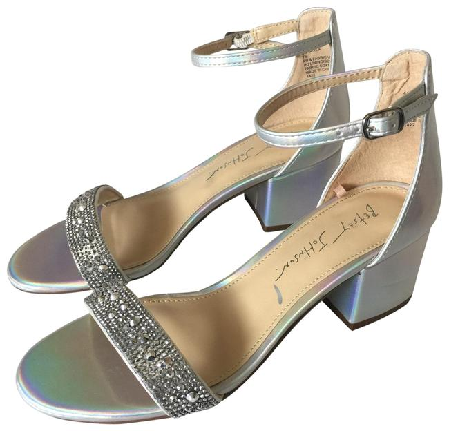 Item - Silver Light Blue Box Without Women's Skyla Ankle Strap Sandals Type: Dress. Brand: Style: Ankle Strap Formal Shoes Size US 6.5 Regular (M, B)