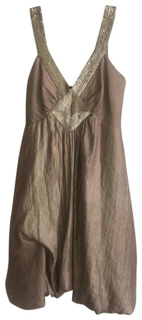 Item - Gold Sequined Bubble Hem Short Night Out Dress Size 2 (XS)