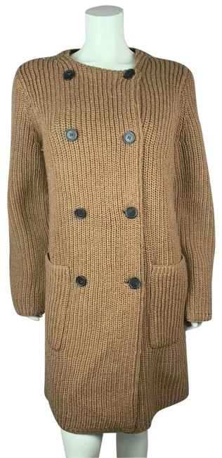 Item - Brown Bonded Knit Sweater Coat Cardigan Size 6 (S)