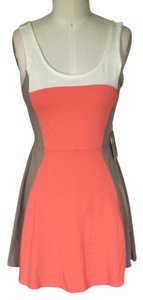 Express short dress Gray / Ivory / Peach on Tradesy