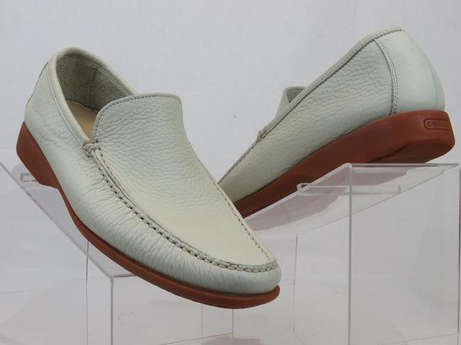 Item - White Lawson Off Tumbled Leather Logo Moccasins Loafers Shoes