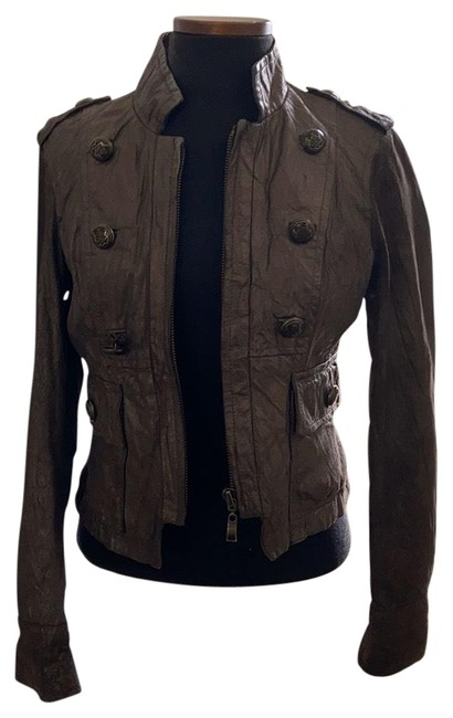 Item - Bronze Cropped Military Styled Jacket Size 6 (S)