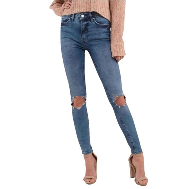 Item - Blue Busted Knee Women's Skinny Jeans Size 29 (6, M)