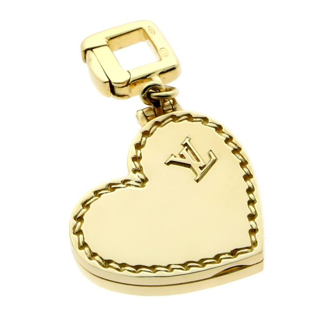 Item - Yellow Gold Heart Locket Charm Pendant 197