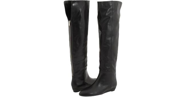 Item - Black Over The Knee Wedge Boots/Booties Size US 6 Regular (M, B)