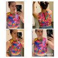 MILLY Multicolor Style Crew Neck Cropped Halter Top Size 10 (M) MILLY Multicolor Style Crew Neck Cropped Halter Top Size 10 (M) Image 12