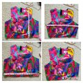 MILLY Multicolor Style Crew Neck Cropped Halter Top Size 10 (M) MILLY Multicolor Style Crew Neck Cropped Halter Top Size 10 (M) Image 4