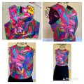 MILLY Multicolor Style Crew Neck Cropped Halter Top Size 10 (M) MILLY Multicolor Style Crew Neck Cropped Halter Top Size 10 (M) Image 6
