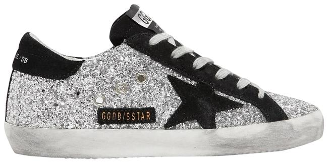 Item - Superstar Glittered Leather and Suede Sneakers Size EU 37 (Approx. US 7) Regular (M, B)