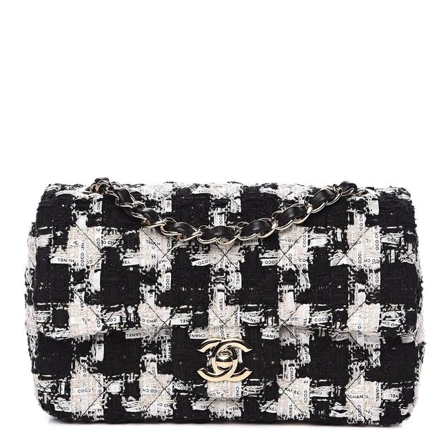 Chanel 2020 Tweed Houndstooth with Ribbon Rectangular Mini Cross Body Bag Chanel 2020 Tweed Houndstooth with Ribbon Rectangular Mini Cross Body Bag Image 1