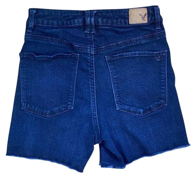 American Eagle Outfitters Blue High Waist Super Stretch Shorts Size 2 (XS, 26) American Eagle Outfitters Blue High Waist Super Stretch Shorts Size 2 (XS, 26) Image 1