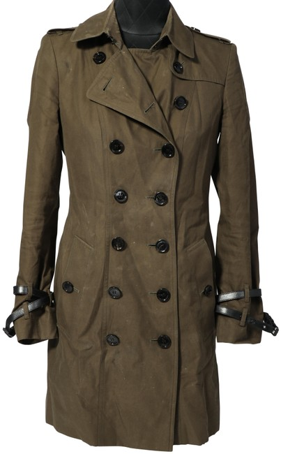 Preload https://img-static.tradesy.com/item/27647659/burberry-green-olive-belted-coat-size-6-s-0-1-650-650.jpg