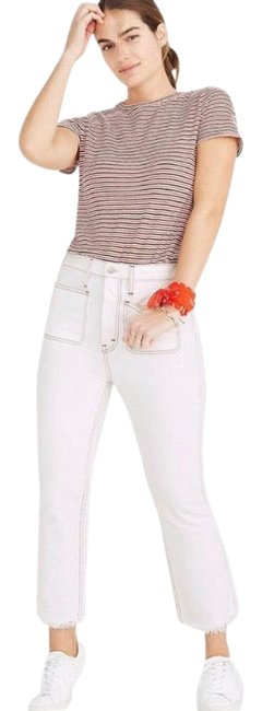 Item - Rigid Demi Boot Crop Red White and Blue Edition Straight Leg Jeans Size 6 (S, 28)